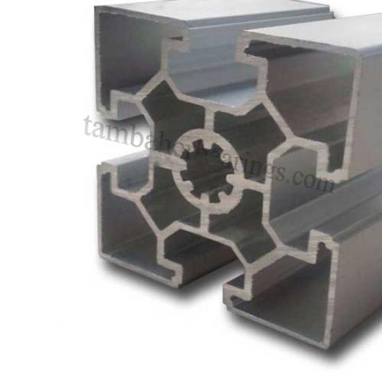 پروفیل آلومینیوم شیاردار 60×60